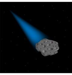 Asteroid in cosmos vector