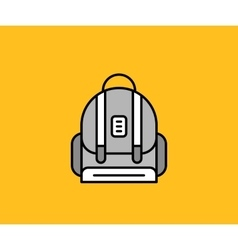 Backpack Design Flat Icon Isolated vector