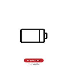 battery icon energy symbol vector image