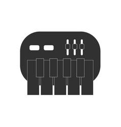Black icon on white background children musical vector