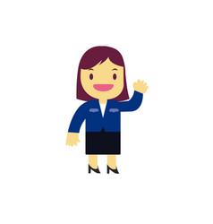 Businesswoman cartoon character design vector