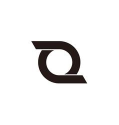 circle rotate line simple design symbol logo vector image
