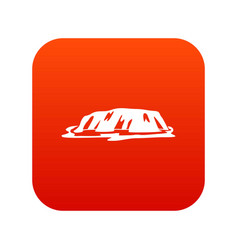 Cliff icon digital red vector