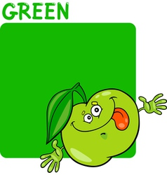 Color Green and Apple Cartoon vector