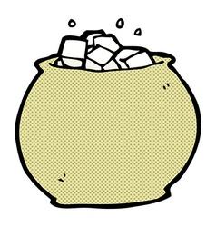 comic cartoon bowl of sugar vector image
