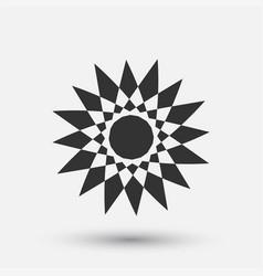 creative icon - floral decorative element vector image