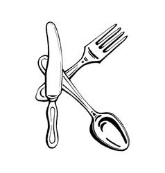 Cutlery - letter k vector