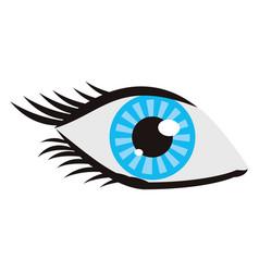 eye human vision view cartoon vector image