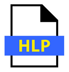 File name extension hlp type vector