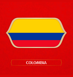 flag colombia is made in football style vector image