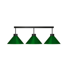 flat cartoon green billiard lamp vector image