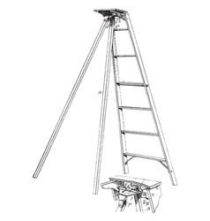 Folding step ladder vintage vector