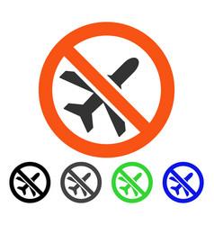 forbidden airplane flat icon vector image
