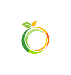 fresh fruit logo symbol icon design vector image