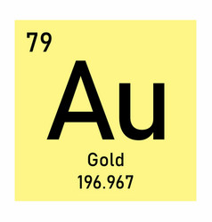 gold chemical symbol vector image