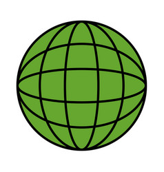 green planet ecology icon vector image