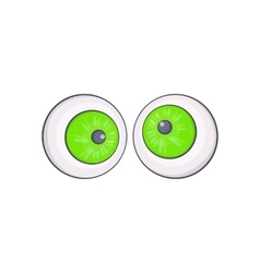 Halloween eyes icon cartoon style vector