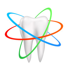 Healthy tooth is protected vector