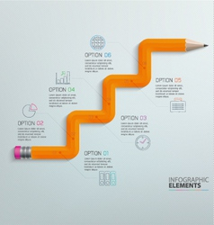 Info graphic Pencil vector image
