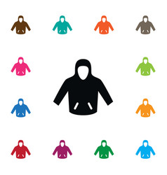 isolated hoodie icon sweatshirt element vector image