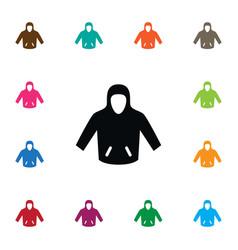 Isolated hoodie icon sweatshirt element vector