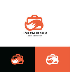 job fox logo icon briefcase tail download vector image