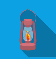 Kerosene lamp icon in flat style isolated on white vector