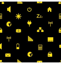 laptop and pc indication icons pattern eps10 vector image