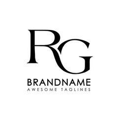 letters rg logo monogram style vector image