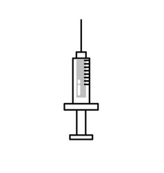 line syringe medical tool to treatment injection vector image