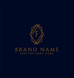 Luxury logotype premium letter f logo vector