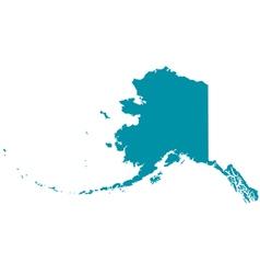 Map of Alaska vector