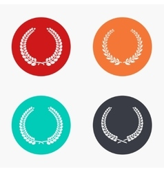 modern quality colorful icons set vector image