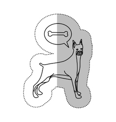 monochrome contour middle shadow sticker with vector image
