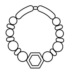 pearl necklace icon outline style vector image