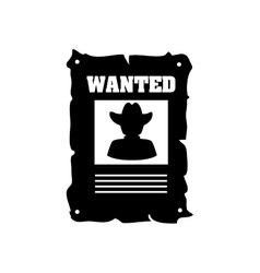 Poster wanted cowboy west icon graphic vector
