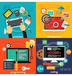 Programming Development Analytics and Coding vector