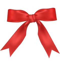Red wide ribbon vector