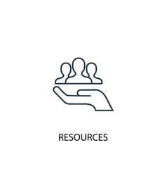 Resources concept line icon simple element vector