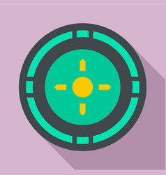 reticle target icon flat style vector image