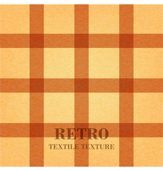 Retro textile background with light brown stripes vector