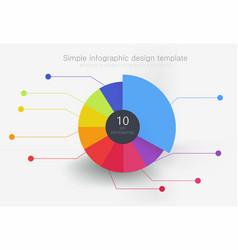 Round multi-colored element for infographics vector