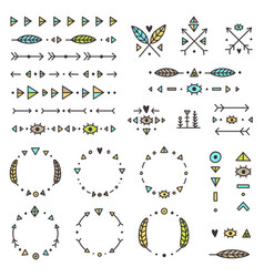 Set of tribal elements vector