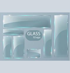 seth empty transparent glass plates vector image