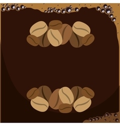 Silhouette pattern with coffee grains vector