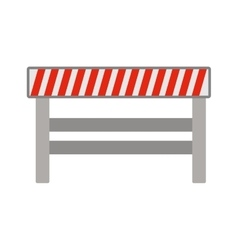 silhouette with barrier closed road vector image