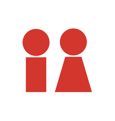 simple icon symbol of a man and a woman vector image