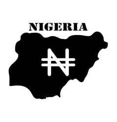 Symbol of isle of nigeria and map vector