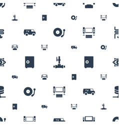 System icons pattern seamless white background vector