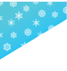 template snowfall and winter snowflakes on blue vector image